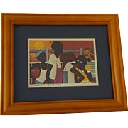 VARNETTE P. HONEYWOOD (1950-2010) hand signed small print by noted African-American artist
