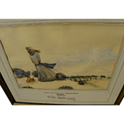 American watercolor painting and accompanying poem by Earl Jones dated 1935