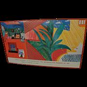 "DAVID HOCKNEY Metropolitan Museum of Art 1988 poster of ""Hollywood Hills"" for a retrospective"