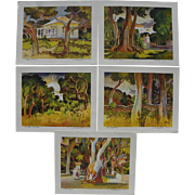 MILFORD ZORNES (1908-2008) set of **8** color prints hand signed by renowned California Style watercolor master artist