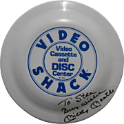 MICKEY MANTLE baseball sports memorabilia unique signed and inscribed frisbee