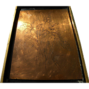 Original European 18th or 19th century copper engraving plate for botanical print
