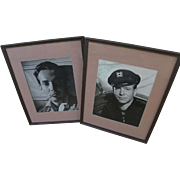 Hollywood memorabilia signed and inscribed photos of actors HURD HATFIELD (1917-1998) and GENE NELSON (1920-1996)