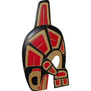 """FRED BAKER (1956-) Northwest Coast art hand carved painted wall hanging """"Killer Whale"""" by listed artist"""