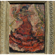 HELEN SAWYER (1900-1999) impressionist painting of a Spanish dancer by noted American National Academician artist