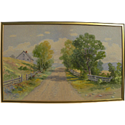 JOHN H. SHERWIN (1834-) New England late 19th century watercolor painting of country landscape in Vermont