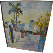 Bermuda art circa 1930's watercolor painting by noted Provincetown artist FRANK CARSON (1881-1968)