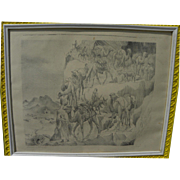 WILFRED BERG (1908-2002) signed lithograph of North Africa subject by noted Michigan artist