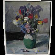 JANOS PAZMANDI BAK (1913-1981) Hungarian impressionist art still life oil painting