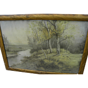American early 20th century pastel landscape painting