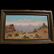 WILLARD PAGE (1885-1958) Southwestern art desert landscape painting