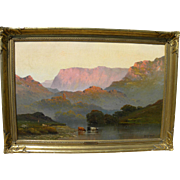 ALFRED DE BREANSKI SR. (1852-1928) impressive landscape painting of North Wales by acknowledged master