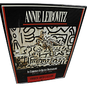 ANNIE LEIBOVITZ (1949-) stylish hand signed and inscribed 1988 poster for Keith Haring exhibition at Andrew Smith Gallery