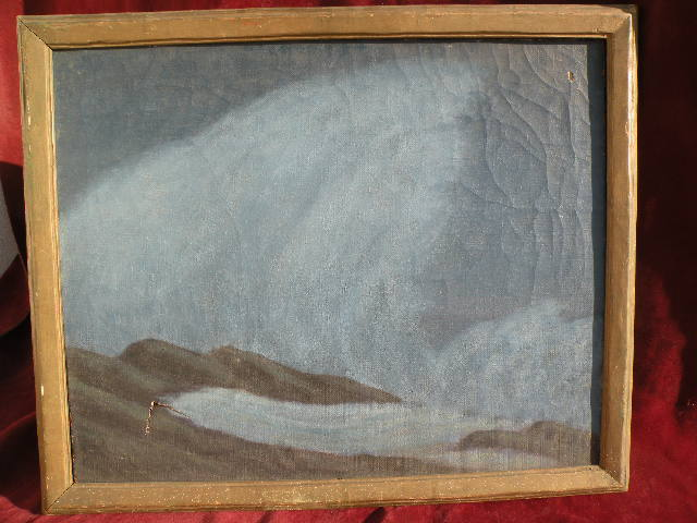 ERNEST BROWNING SMITH (1866-1951) California plein air art nocturne seascape painting