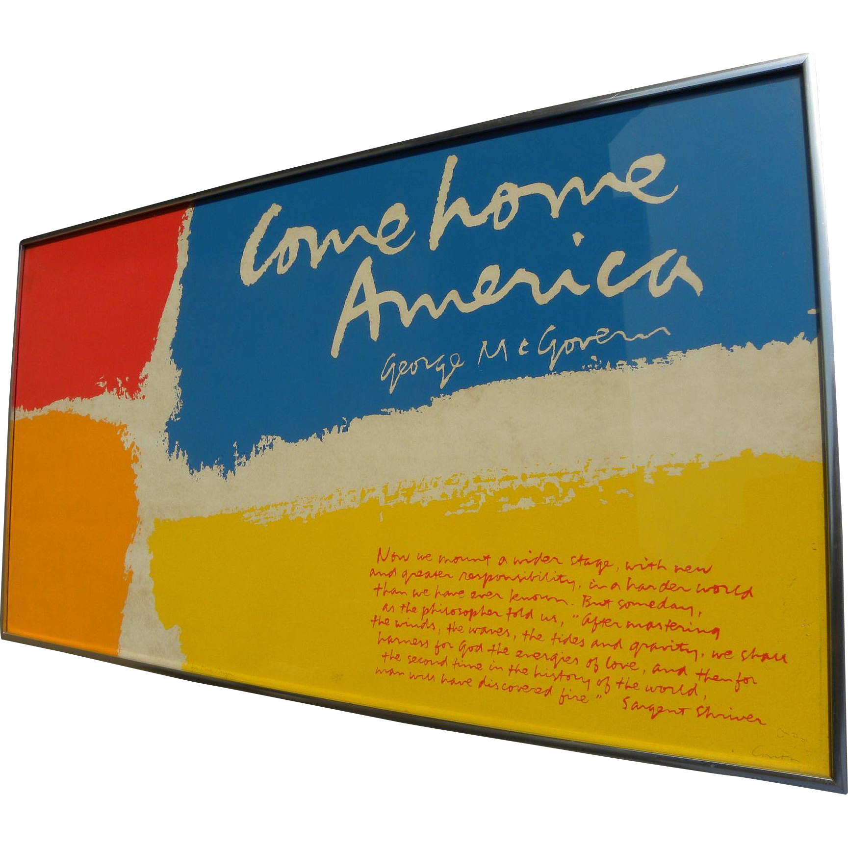 "SISTER MARY CORITA KENT (1918-1986) original hand signed serigraph print ""Come Home America"" by the popular internationally recognized artist"