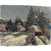 KEITH WARD (1906-2000) impressionist painting of snow in the mountains