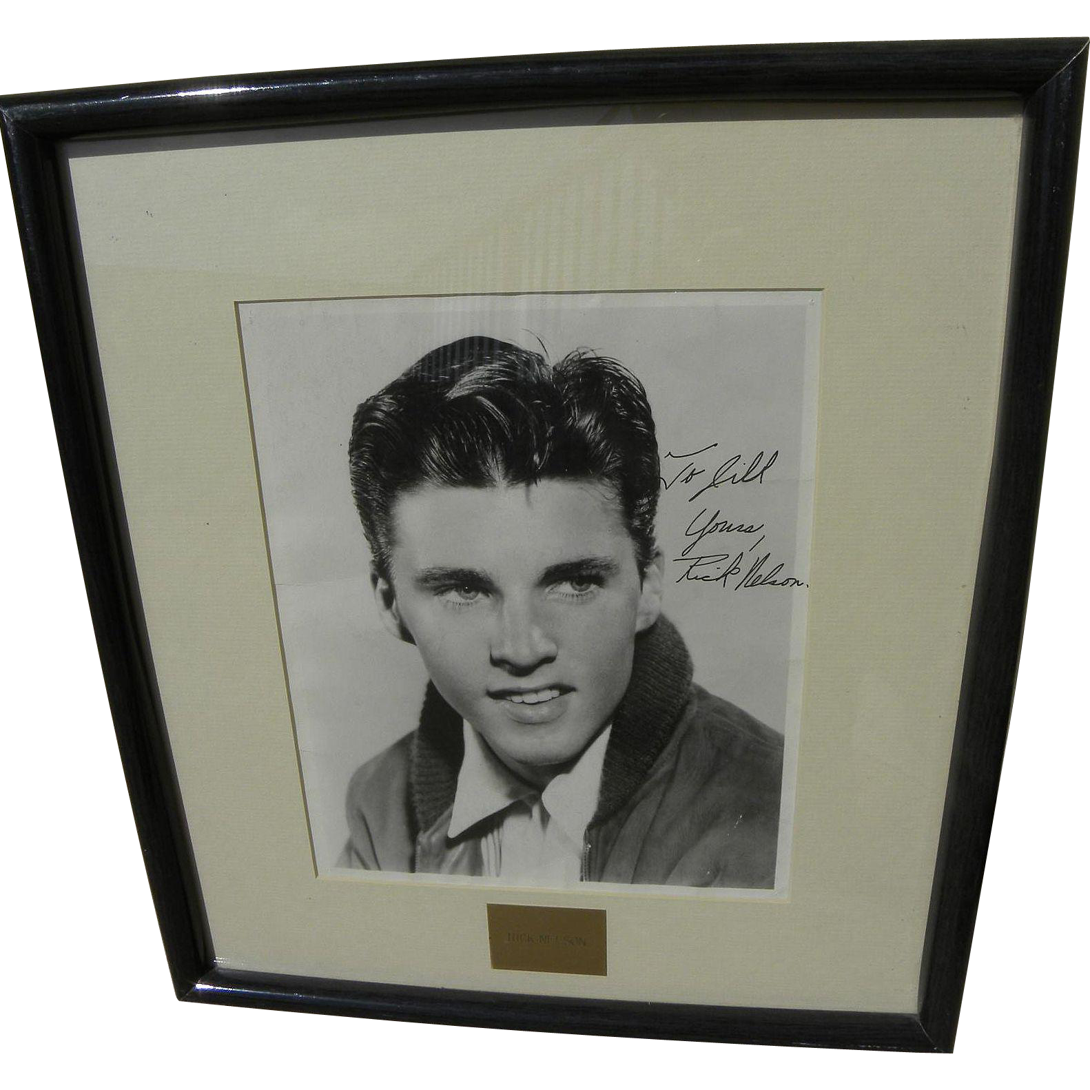 "RICK ""RICKY"" NELSON (1940-1985) autographed inscribed photo of the actor musician singer songwriter"