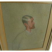 """LESLIE MATTHEW WARD (1851-1922) """"Spy"""" Victorian drawing of Sir Tatton Sykes likely by the noted Vanity Fair artist"""