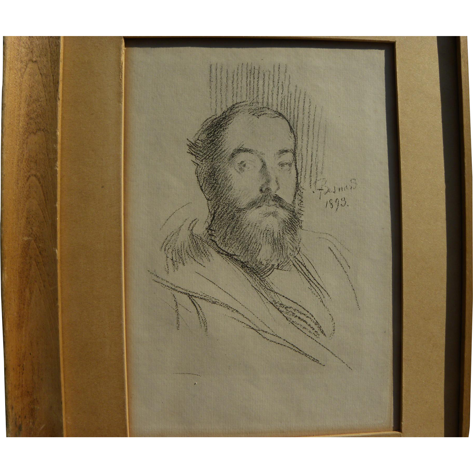 PAUL-ALBERT BESNARD (1849-1934) scarce lithograph self-portrait of the artist dated 1893