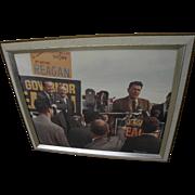 Ronald Reagan political memorabilia color photograph of California 1966 gubernatorial campaign signed by photographer Bennett Alley