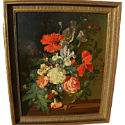 Fine quality realistic antique still life oil painting in Dutch 17th century style