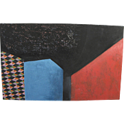 CASS SHAW (American 20th Century) abstract painting by widely exhibited contemporary artist