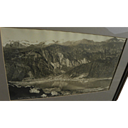 ED ANDREWS (1872-1937) Alaskana panoramic black and white photograph of Juneau Alaska by noted photographer