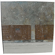 THEODORE SVENNINGSEN contemporary American art 1976 railroad series painting