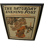 Saturday Evening Post original cover only December 1, 1906 featuring Joseph Leyendecker illustration