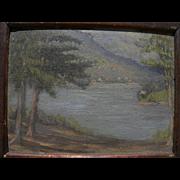 American signed impressionist vintage landscape painting