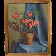 American impressionist vintage still life painting