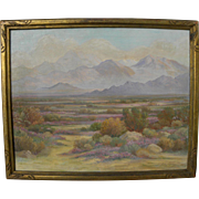 JOHN ANTHONY CONNER (1892-1971) plein air impressionist painting of the California desert in spring