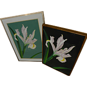 BRIAN DAVIS (1946-) **pair** photo-realist style pencil signed limited edition pochoir floral prints