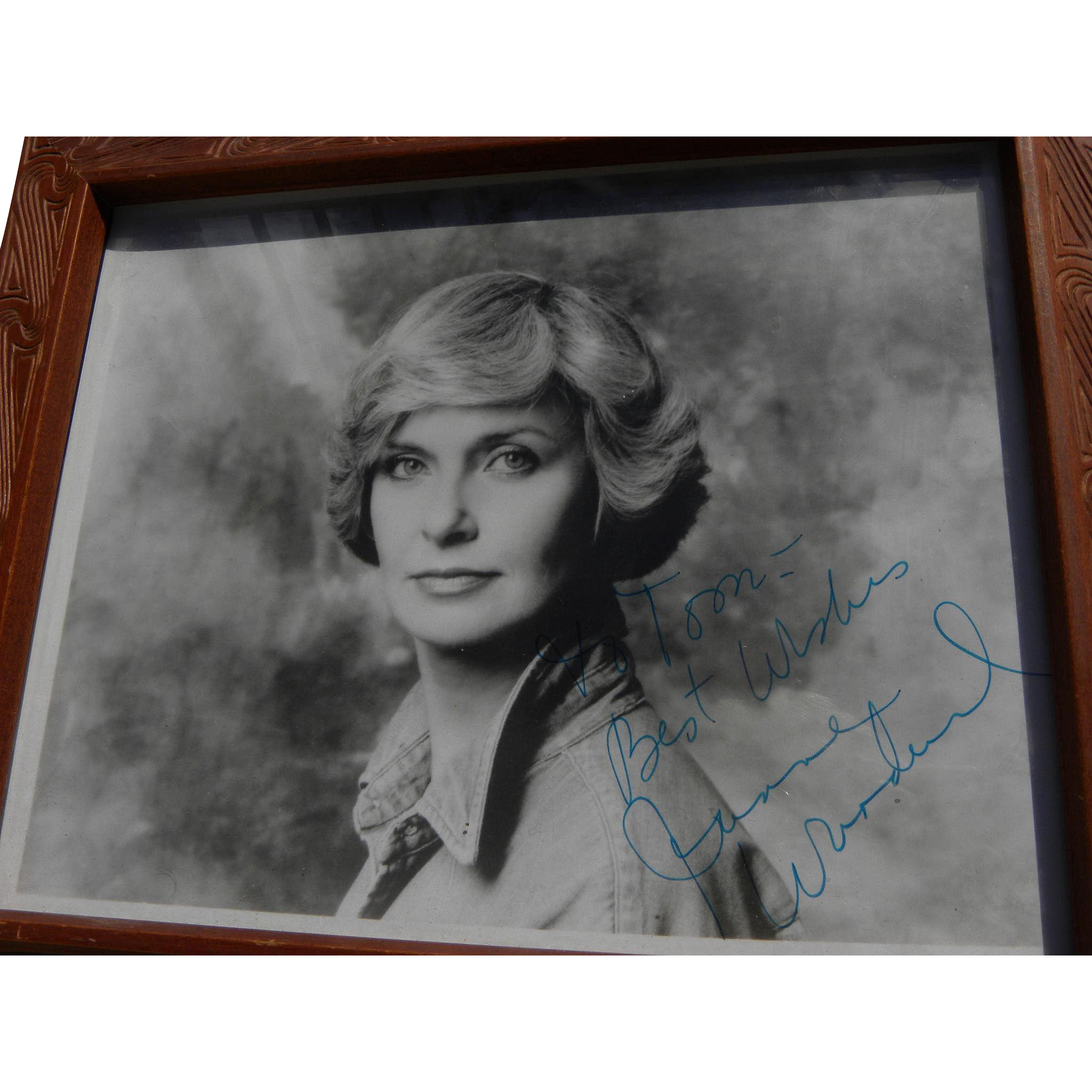 Joanne Woodward signed autographed black and white photo circa mid 1960's image