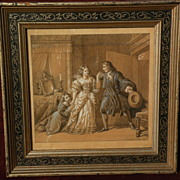 PIERRE NOLASQUE BERGERET (1782-1863) French historical art pencil gouache painting