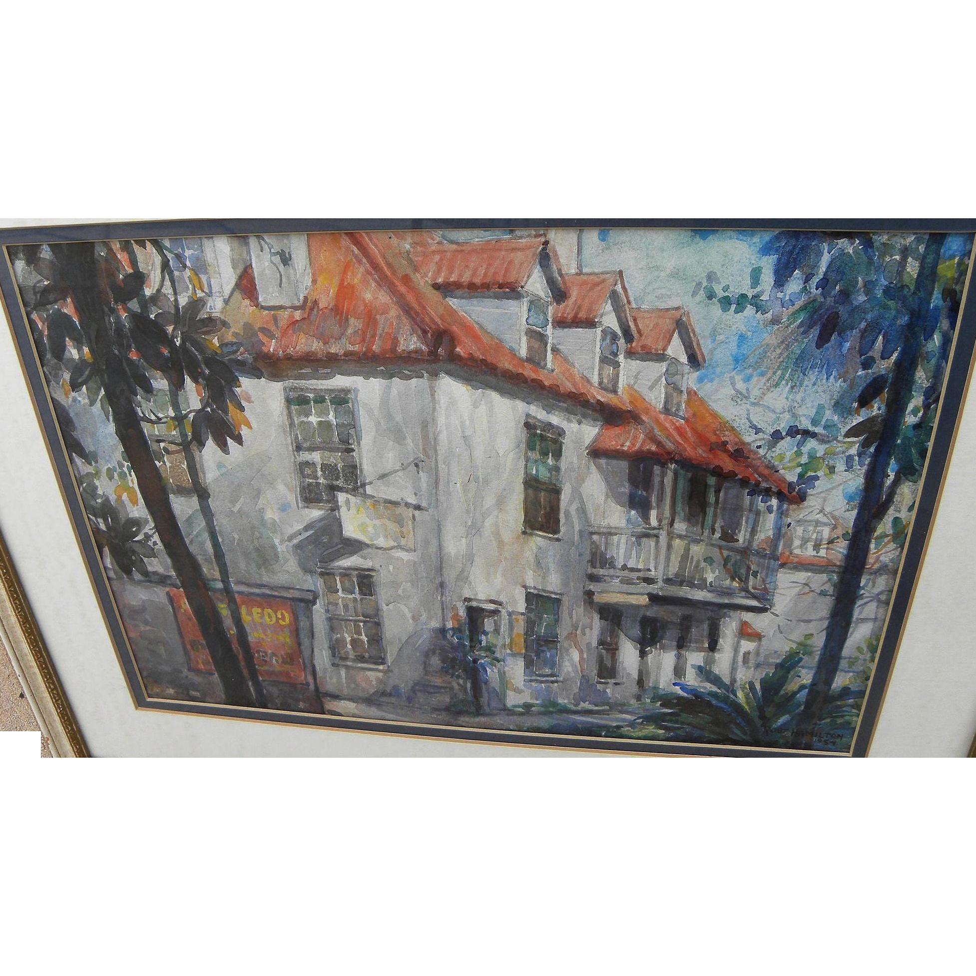 Robert Hamilton Florida Art Saint Augustine Watercolor
