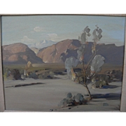 "EARL TARR  (1921-1982) California plein air desert painting ""Shadow Mountain"""