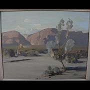 """EARL TARR  (1921-1982) California plein air desert painting """"Shadow Mountain"""""""
