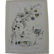 "RONALD SEARLE (1920-2011) pencil signed limited edition lithograph ""Insect Play"" by the noted cartoonist and illustrator"