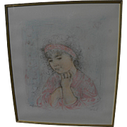 "EDNA HIBEL (1917-2014) pencil signed limited edition print ""Francesca"" by the internationally known artist"