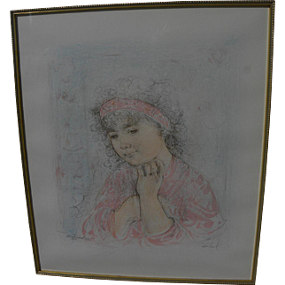 """EDNA HIBEL (1917-2014) pencil signed limited edition print """"Francesca"""" by the internationally known artist"""