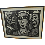 "GEORGES ROUAULT (1871-1958) wood engraving print ""Les Visages"" by the French master artist"