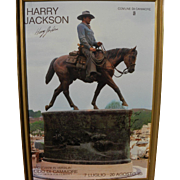 HARRY JACKSON (1924-2011) signed dedicated print featuring John Wayne sculpture by the noted western American artist