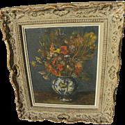 Impressionist nicely framed still life painting by Jewish artist VARDI