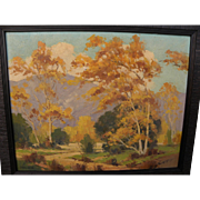 WALTER FARRINGTON MOSES (1874-1947) California plein air autumn landscape painting
