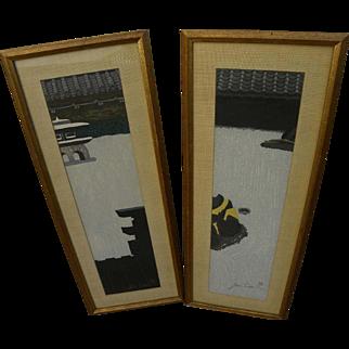 JUNICHIRO SEKINO (1914-1988) Japanese woodblock prints by Sosaku Hanga master artist