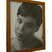 Actress LESLIE CARON (1931-) inscribed autograph vintage photo circa early 1960's