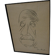 BEN SHAHN (1898-1969) rare hand signed lithograph print of Albert Einstein