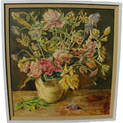 ARTIS LANE (1927-) oil still life painting by noted African-American woman artist