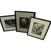 GUSTAVE DORE (1832-1883) three antique engravings by the famous French artist